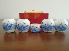 1set 5pcs Asian Bamboo Bird Cage Set Blue Boy ceramics Cup 陶瓷鸟食�2