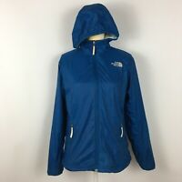 The North Face Women's Windproof Hoodie Fleece Lined Jacket Stretch Blue Size M