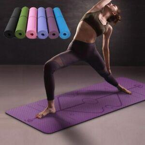 Mat Yoga Rug Fitness Gym Aerobics Pilates Gymnastics 72x24in