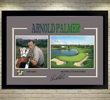 Arnold Palmer the king signed autograph Sports Golf Memorabilia With Frame