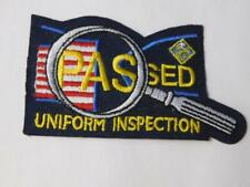 BOY SCOUTS  VINTAGE PATCH  PASSED INSPECTION UNIFORM BADGE COLLECTOR