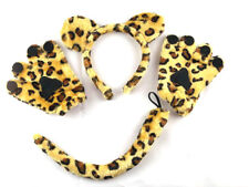 Leopard Fancy Dress Costume Ears Tail and Gloves Set Kids Children Fancy Dress