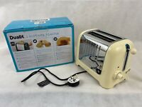 DUALIT 26202 2-Slot Lite Toaster Cream Glossy BRAND NEW FREE POSTAGE IN UK