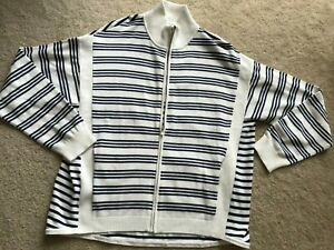 NWT NEW Tommy Bahama cardigan sweater full front zipper L LARGE long sleeves