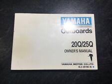 1991 Yamaha Outboard 20 & 25 HP Owner's Operation Manual 20Q 25Q 2 cyl 2 Stroke