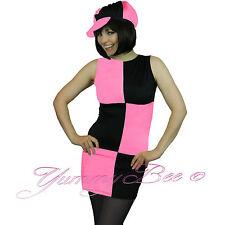 Yummy Bee Mod 60s Disco Plus Size 6 - 16 Fancy Dress Women Costume Tights 70s