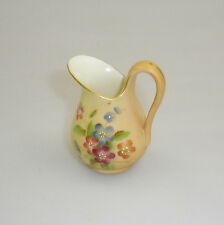 ROYAL WORCESTER MINIATURE JUG DECORATED WITH HANDPAINTED ROSES
