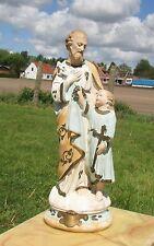 """Antique Vintage  Saint Joseph Infant Jesus Plaster Statue  17.72"""""""
