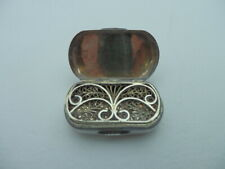 More details for georgian solid silver vinaigrette 1804 birmingham by john shaw