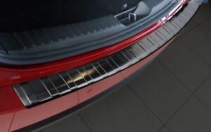 Ladekantenschutz passend für Mazda CX-5 2 II 2017-2018 Schwarz Edelstahl
