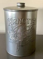 Arnott's Arnotts Commemorative Biscuit Tin Barrel Canister Silver Tone Y2K 2000