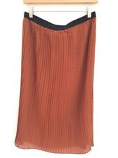 Atmosphere Pleated midi Accordion skirt Rust XL 16 44