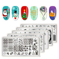 BORN PRETTY Christmas Nail Art Stamping Image Plates Flower Template Manicure