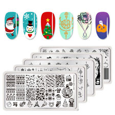 BORN PRETTY Christmas Nail Art Stamping Image Plates Flower Template