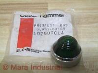 Cutler Hammer 10250TC14 Eaton Green Glass Lens