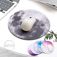 Space Round Mouse Pad PC Gaming Non Slip Mice Mat For Laptop Notebook Computer