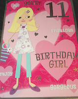 Girls 11th Birthday Card by Selective cards. 25 available.