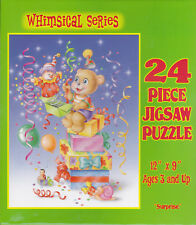 """Jigsaw Puzzle Series WHIMSICAL - SURPRISE Bears 24 Piece 12""""x9"""""""