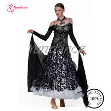 Black And White ballroom dance dress wholesale B-13101