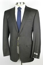 NWT $2195 CANALI 1934 Solid Brown Year Round Wool Suit 44 L (54 Eu) Slim Fit