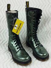 Womens Dr Martens 1B99 Green texture 14-eye zipper US 6 EU 37 Doc Marten AirWair