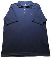 Tommy Bahama Men's Marlin Short Sleeve Blue Polo Shirt Size Medium.