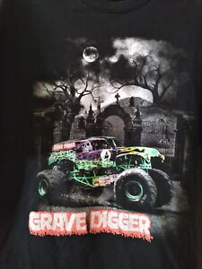 Grave Digger - Monster Jam (Black )T-Shirt