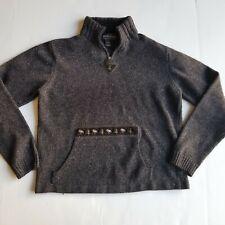 Woolrich Women's Size XS 1/4 Zip Sweater Front Handwarmer Pocket Moose & Tree