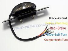 Universal Motorcycle Chopper LED Rear Brake Tail License Plate Turn Signal Light