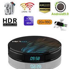 HK1 Max 4K HDR 3D TV Box RK3318 2G+16G Dual WiFi Android 9.0 Home Media Player