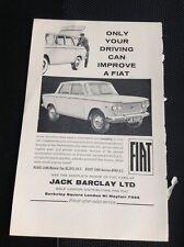 K1-6 Ephemera 1963 Advert Jack Barclay Ltd Fiat Mayfair