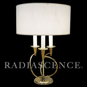 ATOMIC MODERN MUTUAL SUNSET SPIRAL CANDELABRA BRASS TABLE LAMP LIGHTOLIER 1950'S