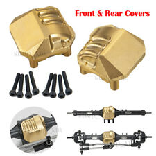 2Pcs Brass Front Rear Axle Diff Covers For Axial Scx10Ii 90046 1/10 Rc Crawler