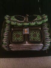 DOLCE & GABBANA Medium Raffia and Leather Shoulder Bag Handbag £2250.00