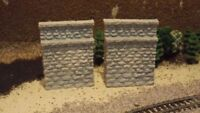 N-Scale 2 Stone Abutments 1:160 Model Train Detail Accessories/Layout
