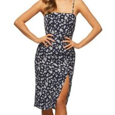 NEW Kookai Daisy Chain Dress 100% Silk Floral Print Womens Size 34 RRP $220