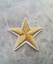 GOLD STAR PATCH XMAS IRON ON PATCHES BADGE APPLIQUE