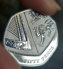 2017 50p coin ROYAL SHIELD OF ARMS (rarer than Isaac Newton & Jemima Puddleduck)