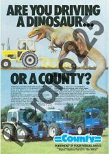 A3 Vintage County Tractor Are You Driving A Dinosaur Advertising Brochure Poster