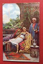 CPA. EGYPTE - Illustrateur FABBJ. Serie Hashashin. N°651,4. Orientalisme.