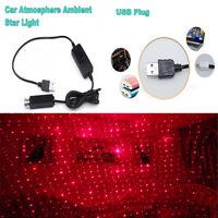 Mini car ceiling projection LED starlight decoration lamp Galaxy effect usb plug