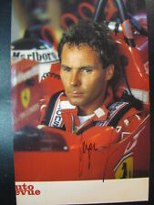 Clipping Ferrari F1/87 1987 #28 Gerhard Berger (AUT) signed