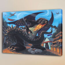 Print on Canvas Home Art Deco Oil Painting Harry Potter Battle with Dragon 16x20