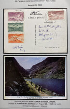 1955 Shannon Airport Ireland Airmail Picture Postcard Cover To Vienna Austria