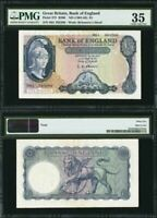 1961-63 Great Britain 5 Pounds Banknote P-372a O'Brien PMG Choice Very Fine 35