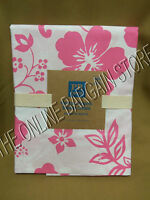 Pottery Barn Teen Hibiscus Floral Organic Bath Bathroom Shower Curtain Pink 72""
