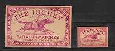 Anciennes étiquettes  allumettes Suède Jockey  Cheval