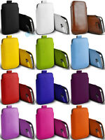 Leather PULL Cord TAB Pouch Case Cover Wallet Skin Bag For Samsung Galaxy Series