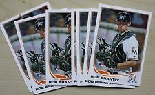 (7) Lot 2013 Topps Series 2 ROB BRANTLY RC Rookie Card Marlins #511