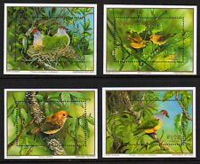 COOK IS.1989 BIRDS M/SHEETS MS 1226 MNH.